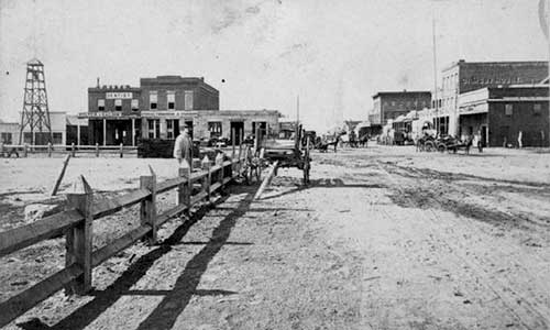 Second Street looking west, Carson City 1863