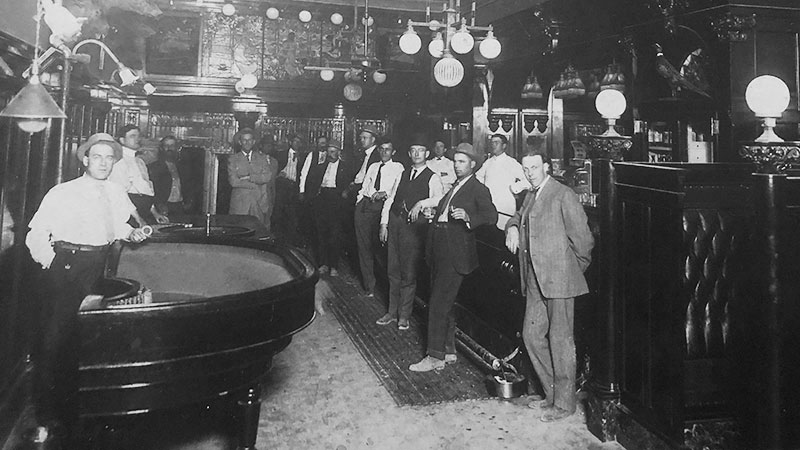 Nevada Club in the Belvada Building 1910