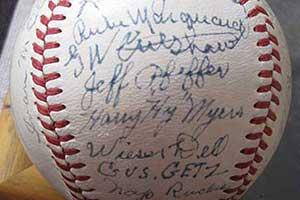 1916 Brooklyn Robins signed baseball