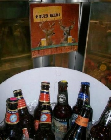 Minden Meat and Deli offers 350 varieties of beer, including these bargains for customers on a modest budget.