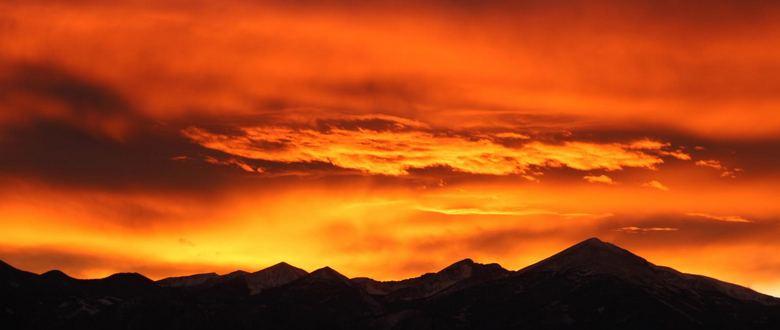 Sunset over- the Snake Range Gretchen Baker