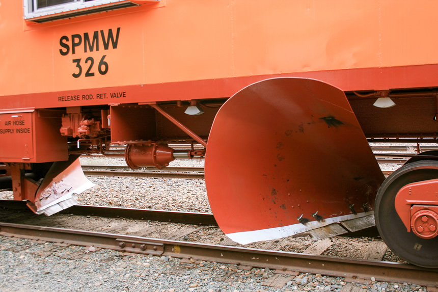 Union Pacific flanger's two plow blades