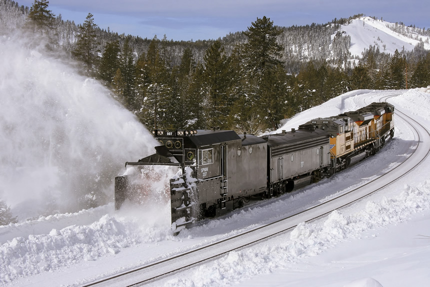 Union Pacific Rotary Snowplow No. 207