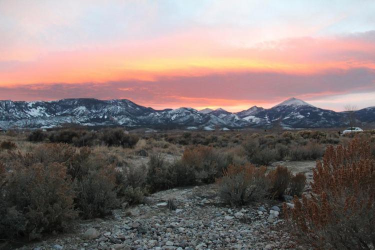 Beautiful November skies over Baker Nevada