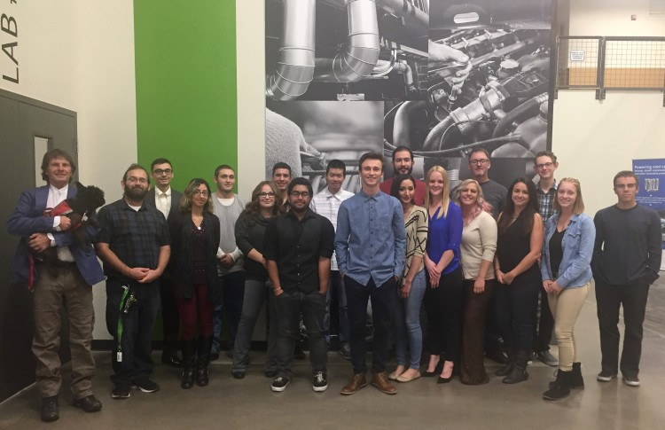 The Truckee Meadows Community College architectural design class presented designs that included exterior awnings and railings reminiscent of traditional stations