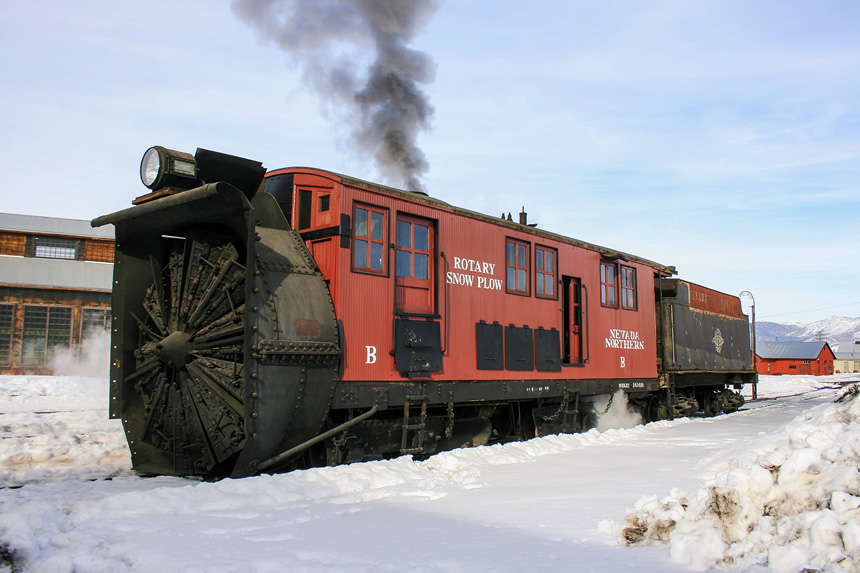 Nevada Northern Railway Rotary Snowplow B