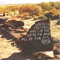 """""""Women control half of the money and all of the kitty-cats"""" —Doobie Road, Gerlach Nevada"""