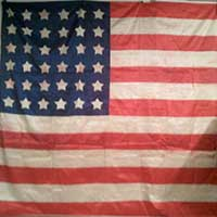 36-Star flag at the Sparks Musseum
