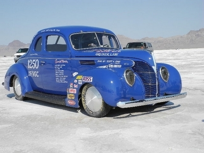 '38 Ford Coupe at Bonneville 400x300