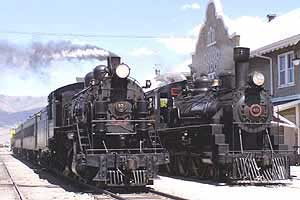 #40 and #93 at the Nevada Northern Railway Depot, East Ely Nevada