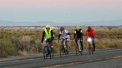 four bikes on US 50 east of Fallon