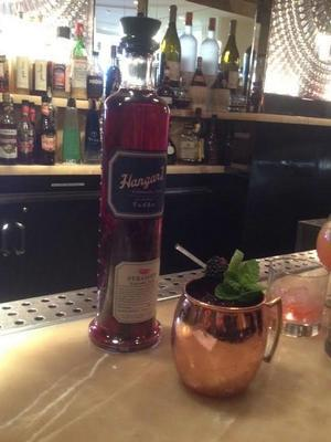 An American Harvest Blackberry Mule, one of many one-of-a-kind cocktails from the elegant DJT Lounge