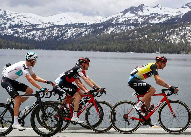 Amgen bikers at Lake Tahoe