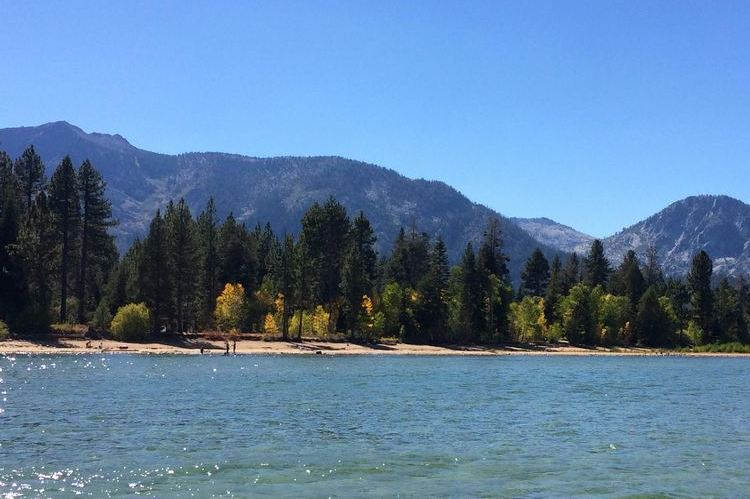 Taylor Creek flows out into Lake Tahoe at lovely Kiwa Beach