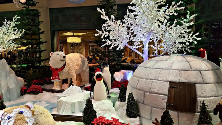 Holiday display at the Bellagio Conservatory & Botanical Garden