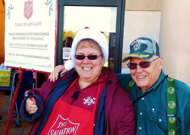 Cheerful bell ringers are signs of Christmas in Mesquite