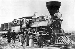 "Locomotive ""Champion"" at Winnemucca Nevada 1868"