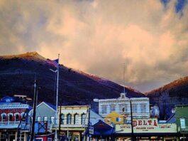 Virginia City after a summer thundershower