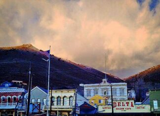 Virginia City after a summer thundershower