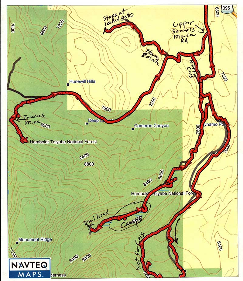 Green Creek map