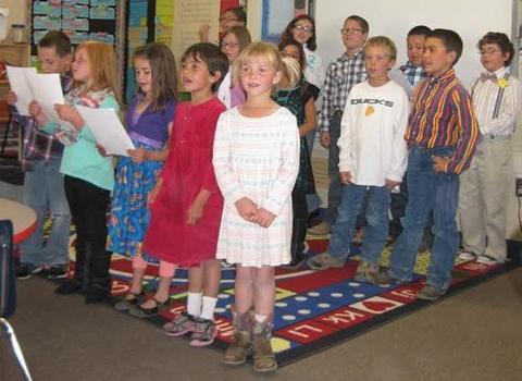 Independence Valley School - children singing 2