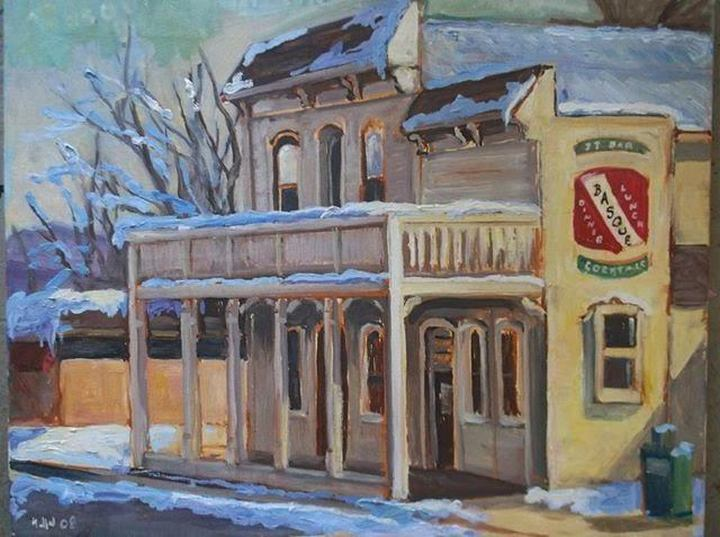 The J T Bar & Restaurant in Gardnerville (Painting by Erik Holland)
