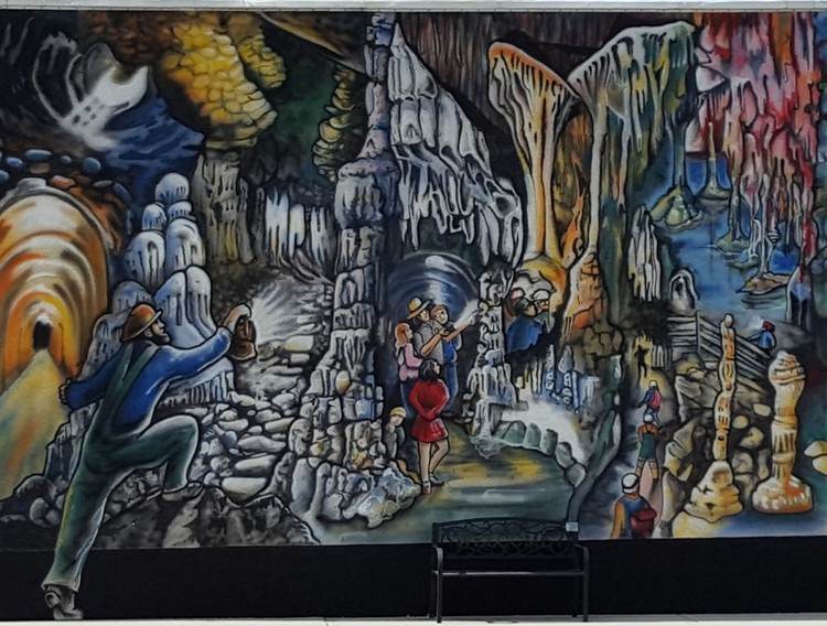 The Lehman Cave mural