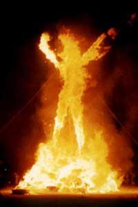 The Burning Man Burns, photo by Lightmatter