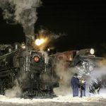 Locomotive 93 and Snowplow B
