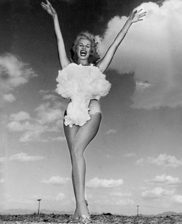 """Miss Atomic Bomb,"" Las Vegas showgirl Lee A. Merlin. Photo by Don English, Las News Bureau, 1957."