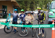 Mountain bikers eagerly awaiting the opening of the new trailhead