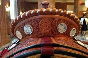 Capriola stamped saddle