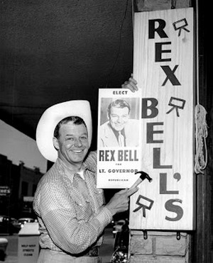 Rex Bell, owner of Rex Bell's Western wear store on Fremont Street, Lieutenant Governor of Nevada from 1954 to 1962 and Hollywood cowboy actor.