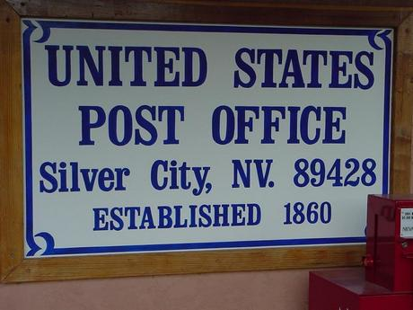 Silver City Post Office sign