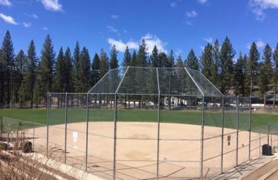 Softball field at Zephyr Cove Park