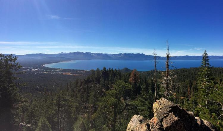 View from Castle Rock near the Tahoe Rim Trail