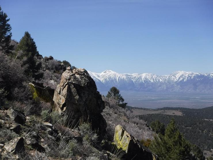View from the slope of Mineral Peak of Carson Valley and the Carson Range