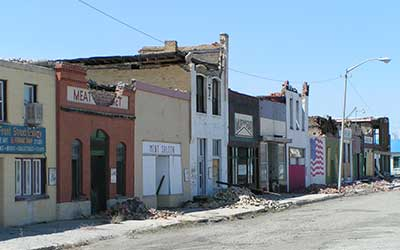 Front Street after the Earthquake, Wells Nevada