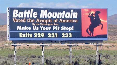 Battle Mountain Armpit billboard