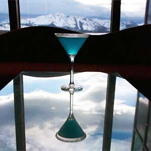 Atmospheric River cocktail at Harrah's and Harveys Lake Tahoe