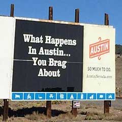 What Happens in Austin billboard