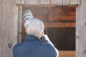 Barn owls are a favorite target during the ranch tours.