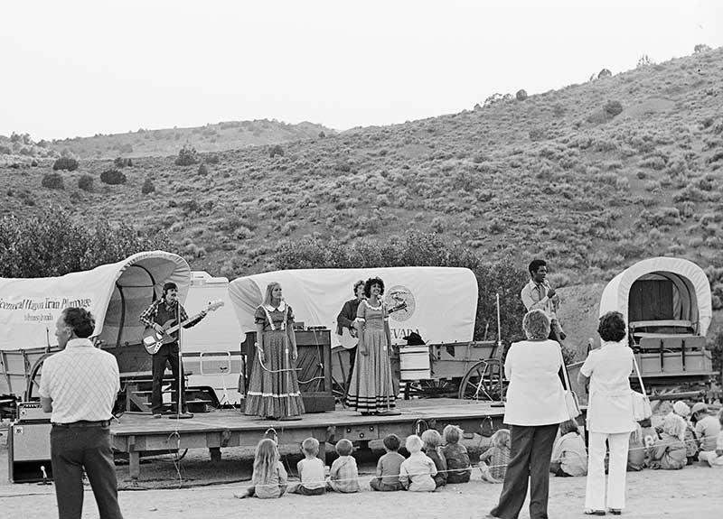BiCentennial entertainers at Silver City, July 1 1976