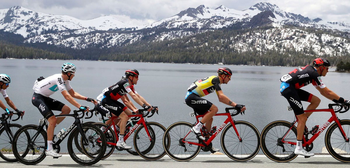 bikers at Lake Tahoe