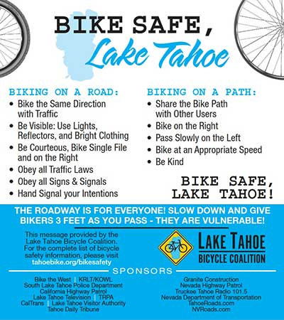 Bike Safe Lake Tahoe