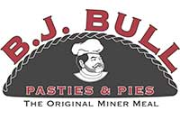 Logo: BJ Bull Pasties & Pies, Elko Nevada