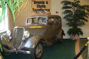 The Bonnie & Clyde Death Car at Whiskey Pete's in Primm Nevada