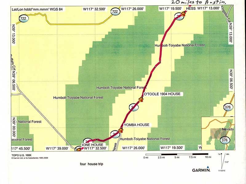 Picon Map of Nevada Route 21