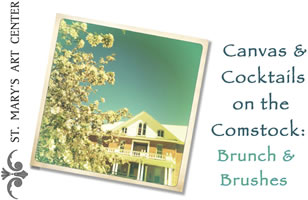 """Canvas and Cocktails on the Comstock, """"Brunch and Brushes"""""""