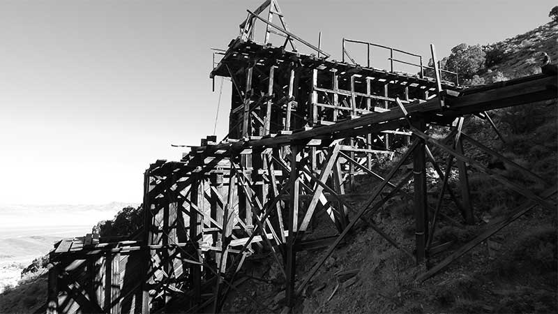 Gunmetal Mine ruins near Mina Nevada